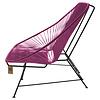 Acapulco sofa canapé violet vin, adapté pour 2 personnes
