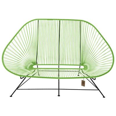 Acapulco sofa canapé vert pomme, adapté pour 2 personnes