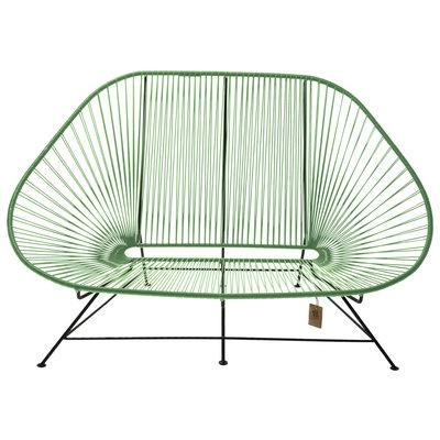 Acapulco Zweisitzer Sofa dunkelgrün, geeignet für 2 bis 3 Personen