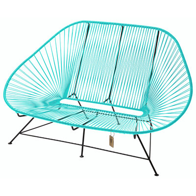 Acapulco sofa canapé turquoise clair, adapté pour 2 personnes