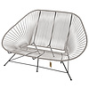Acapulco 2 Seater Sofa silver-grey, suitable for 2 to 3 people