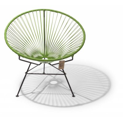 Condesa chair olive green with black frame
