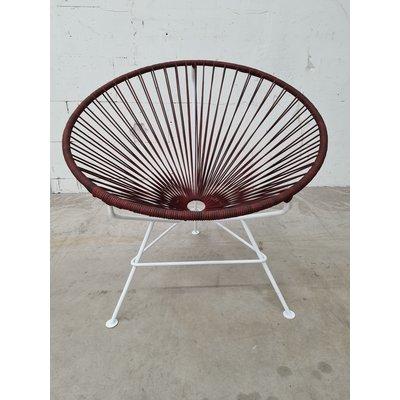 Édition exclusive de cuir de la chaise Condesa, cadre blanc