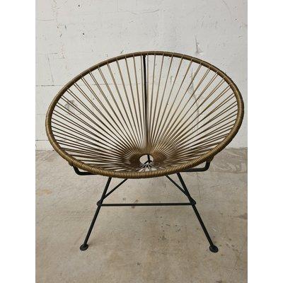 Condesa stoel donker goudkleur, handgemaakt