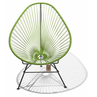 Handmade Acapulco chair olive green, black frame - Detachable
