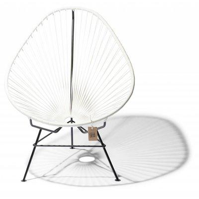 Handmade Acapulco chair white, black frame - Detachable