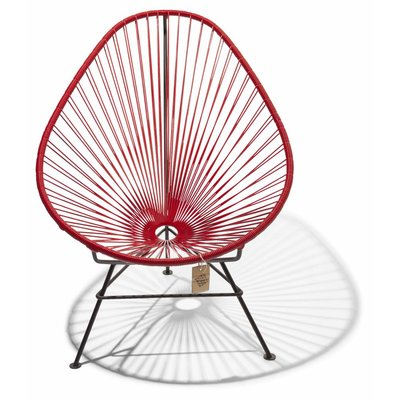 Fauteuil Acapulco rouge - Amovible