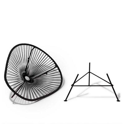 Handgemaakte Acapulco stoel zwart - Afneembaar