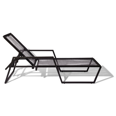 Sunbed Solas black, collapsible backrest