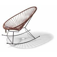 Unieke limited edition Acapulco schommelstoel in natuurleder