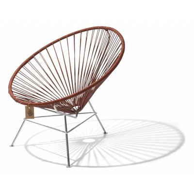 Authentic leather Condesa chair with chrome frame
