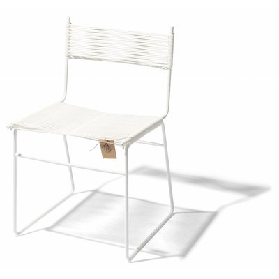 Polanco Esszimmerstuhl auf Kufen weiß, weißes Gestell