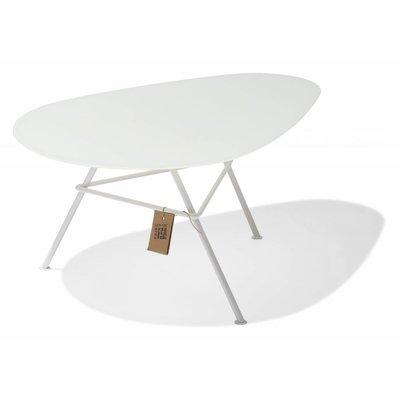 Tisch Zahora Glas - weiß - mit weißem Gestell