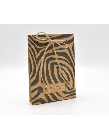 Kadobon verpakking zebra excl. inlay 50st.