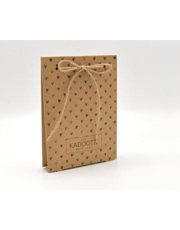 Kadobon verpakking hartjes excl. inlay 50 st.