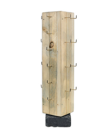 Toonbankdisplay 28-haaks steigerhout