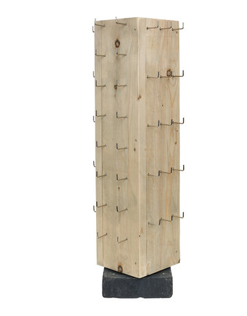 Toonbankdisplay 62-haaks steigerhout