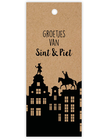 Kadokaartje Sinterklaas 12 St.