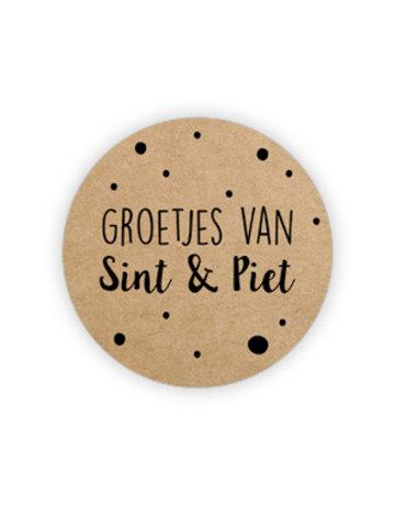 Etiket Sinterklaas 500 St. ø35