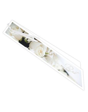 Witte rozen Ribbon 20 St.