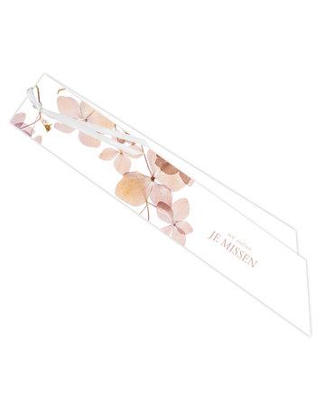 Roze bloemetjes Ribbon 20 St.