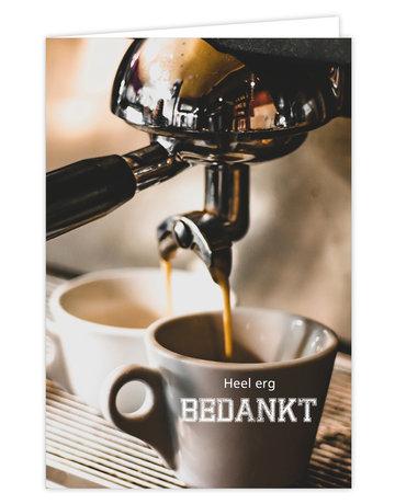 Coffee Wenskaart  à 6 St.