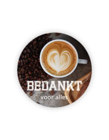 Coffee Etiket ø35mm à 500 stuks