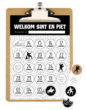 Aftelkalender Sinterklaas 5 st.