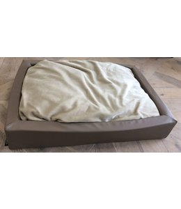 Woef Woef Hondenkussen luxe velours lounge 80x110cm (Taupe)