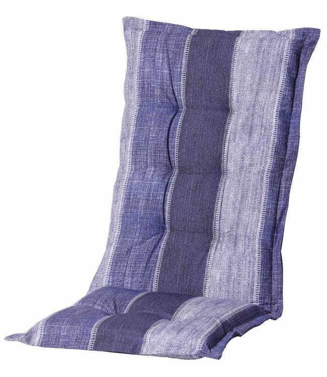 Madison Tuinstoelkussen hoog 50x123cm (Denim Stripe Blue)