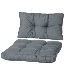 Madison Loungekussens Florance 4 SETS ca. 60x60 + 60x43cm (Basic Grey)
