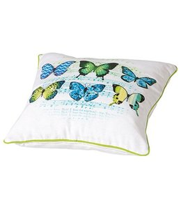 Madison Sierkussen Butterfly Green 50x50cm