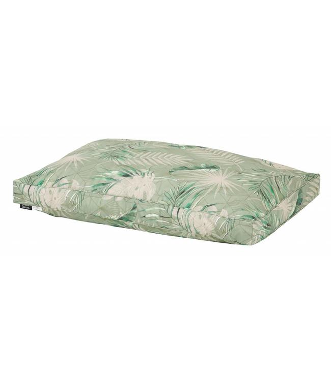 Woef Woef Hondenkussen lounge luxe Dotan Green (waterproof)