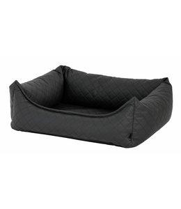 Woef Woef Hondenkussen luxe kunstleer (Donker grijs)