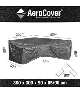 AeroCover Loungeset beschermhoes hoge rug L-vorm 300x300x90cm