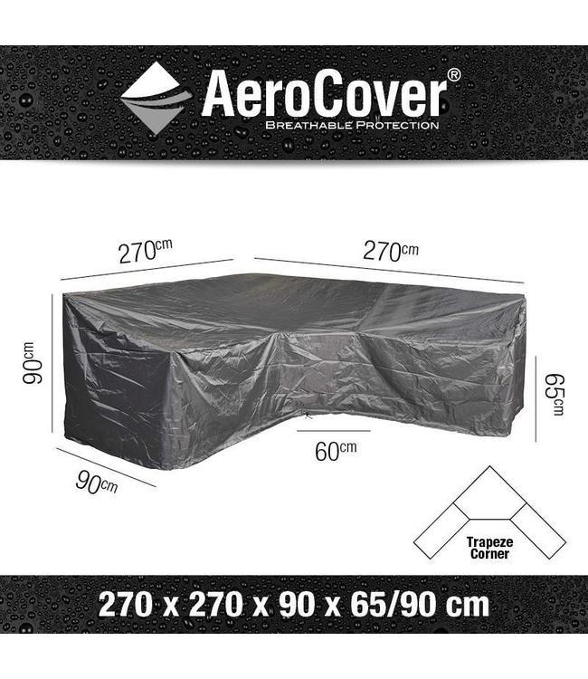 AeroCover Loungeset beschermhoes hoge rug L-vorm 270x270x90cm