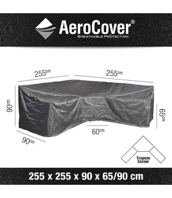 AeroCover Loungeset beschermhoes hoge rug L-vorm 255x255x90cm