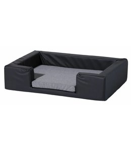 Woef Woef Hondenkussen Dog Bed Skai Leather Grey