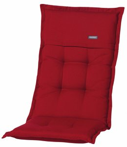 Madison Tuinstoelkussen hoog 50x123cm (Rib Red)