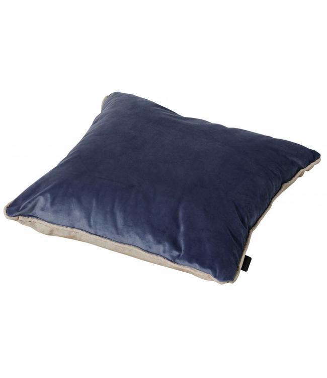 Madison Sierkussen Panama Linnen / Velvet Dark Blue 45x45cm
