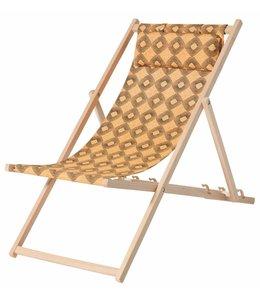 Madison Wood Beachchair Rondo Yellow (waterproof)