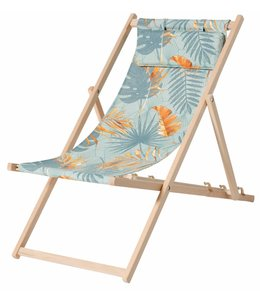 Madison Wood Beachchair Dotan Blue (waterproof)