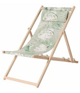 Madison Wood Beachchair Dotan Green (waterproof)