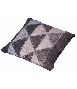 Madison Sierkussen Denim Triangle Grey 50x50cm