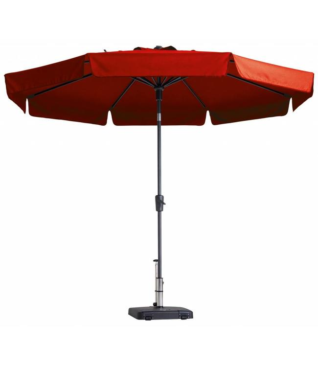 Madison Parasol Flores Luxe ∅300cm (Brick Red)
