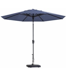 Madison Parasol Paros Round luxe ∅300cm (Safier Blue)