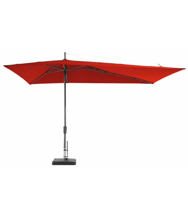 Madison Parasol Asymetric Sideway 220x360cm (Brick Red)