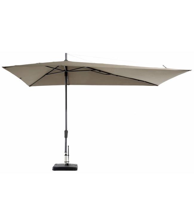 Madison Parasol Asymetric Sideway 220x360cm (Taupe)