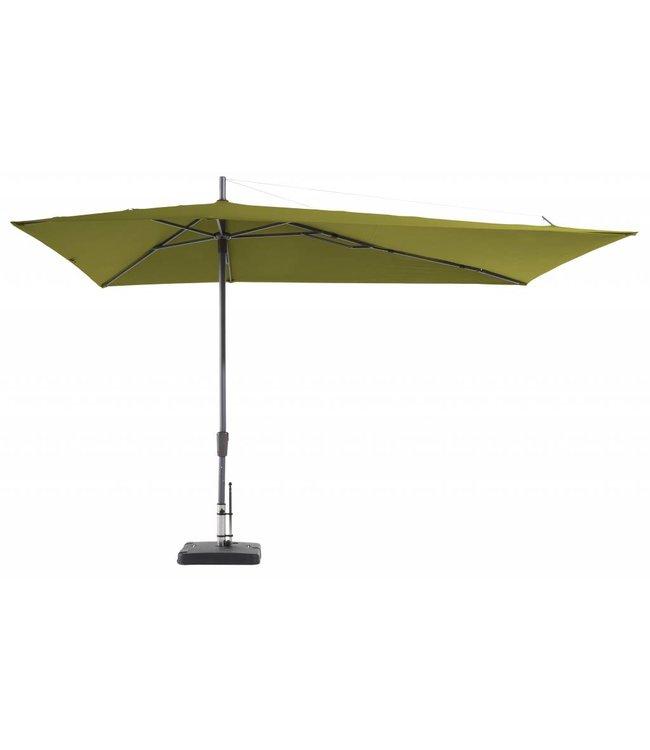 Madison Parasol Asymetric Sideway 220x360cm (Sage Green)