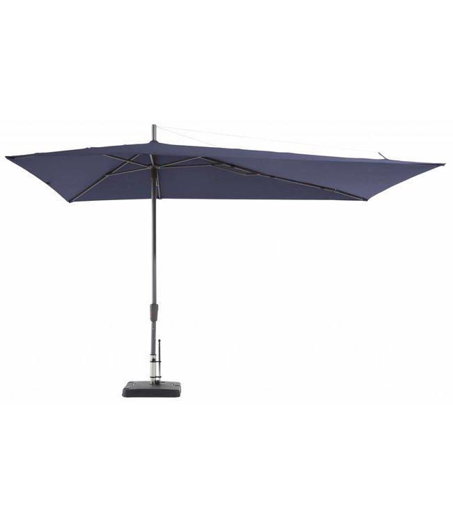 Madison Parasol Asymetric Sideway 220x360cm (Safier Blue)